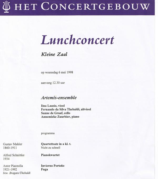 Lunchconcert Artemis